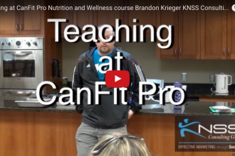 Teaching at CanFit Pro Nutrition and Wellness course