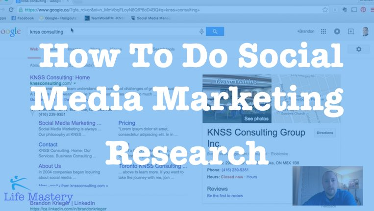 How To Do Social Media Marketing Research